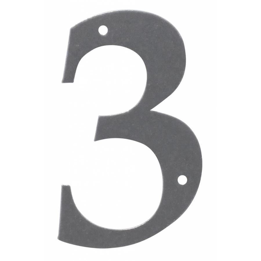Huisnummer ijzer 3