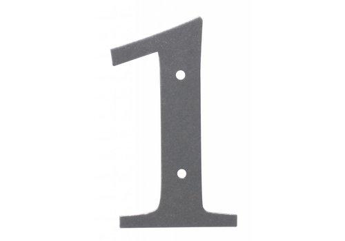 Huisnummer 1 ijzer