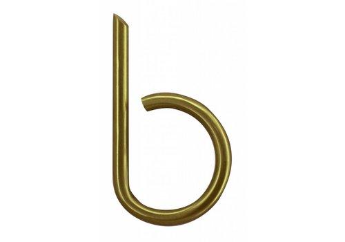 House letter B matt copper
