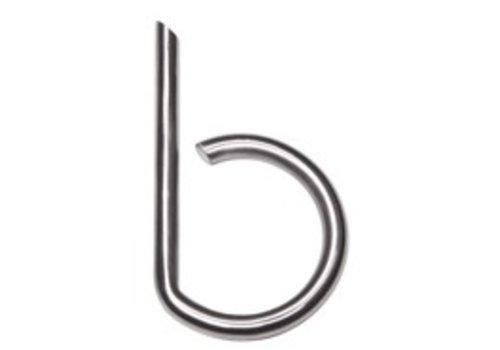 Huisletter B rvs 130mm