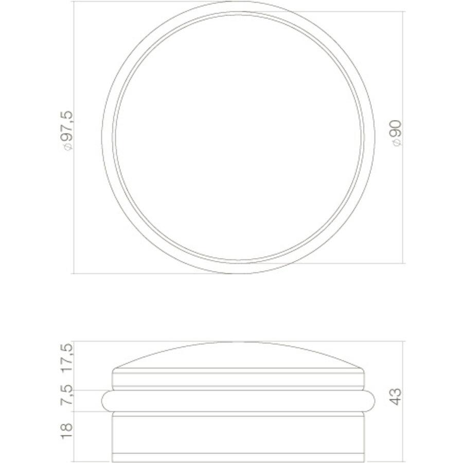 Stainless steel Floor door stop Puck - 90x43mm - 1.5 KG