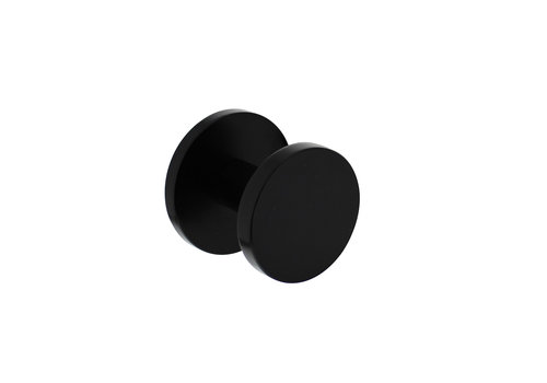 Front door knob Ø55mm on rear plate Ø60mm and one-sided mounting aluminum black