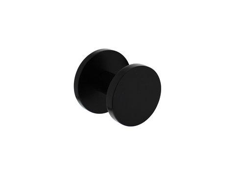 Voordeurknop Ø55mm op achterplaat Ø60mm en éénzijdige montage aluminium zwart