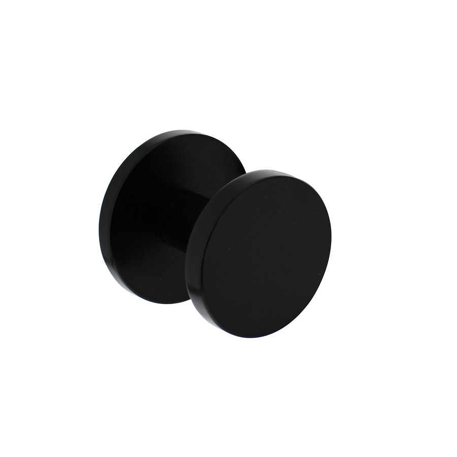 Intersteel Front door knob Ø55mm on rear plate Ø60mm and one-sided mounting aluminum black