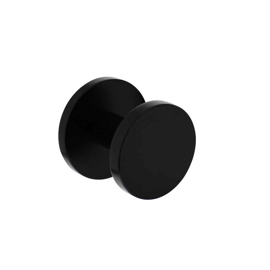 Intersteel Voordeurknop Ø55mm op achterplaat Ø60mm en éénzijdige montage aluminium zwart