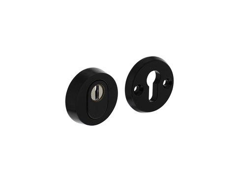 Rosace de sécurité SKG3 ronde avec protection anti-arrachement du noyau aluminium noir