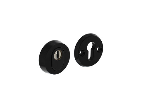 SKG3 safety rosette round with core pull protection aluminum black
