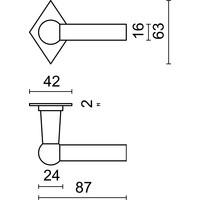 Deurklinken Petra NM L+L roest ruit met WC-garnituur