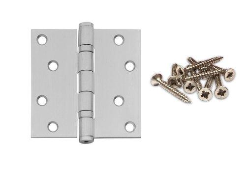 Ball bearing hinge straight 89x89x2.5mm stainless steel + 8 screws