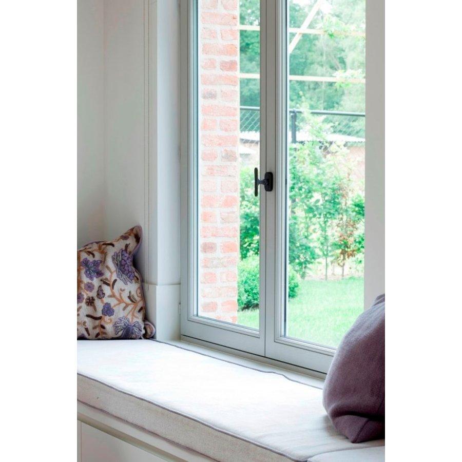 "PIECE WINDOW HANDLE PHT ""T"" / 32 AGED IRON - BLACK"