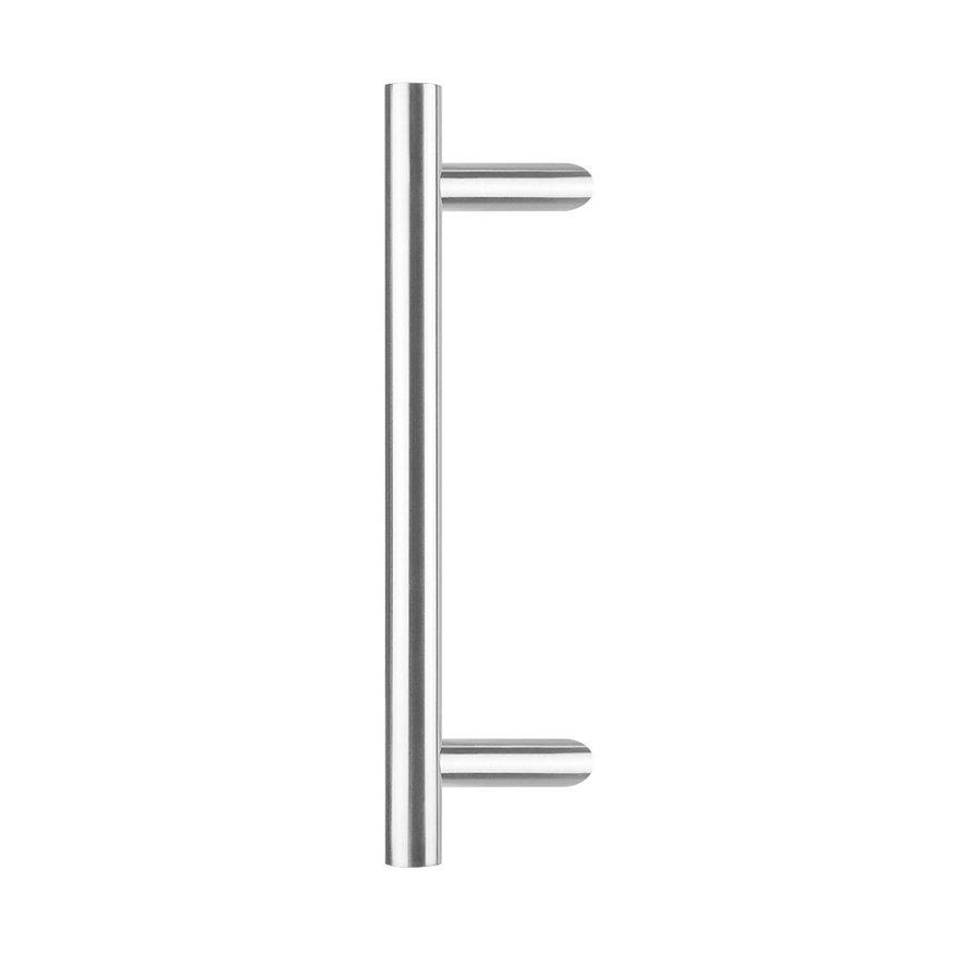 Deurgreep per stuk T-schuin 30/600/800 - diepte 90mm - RVS inclusief bevestiging