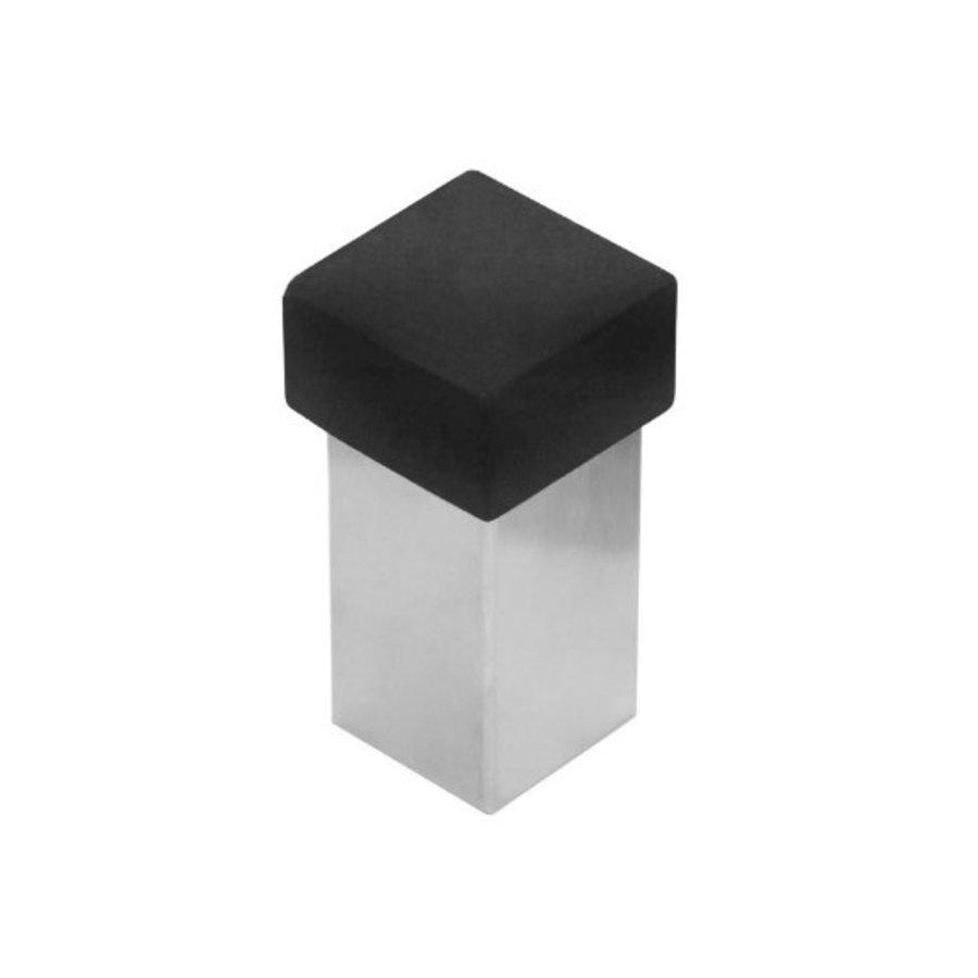 RVS Deurstop universeel voor muur en vloermontage vierkant