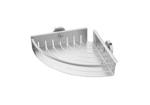 Tiger Boston Shower basket Corner large stainless steel brushed