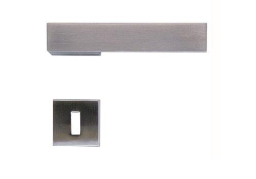 Rvs look deurklinken X-Treme met sleutelplaatjes