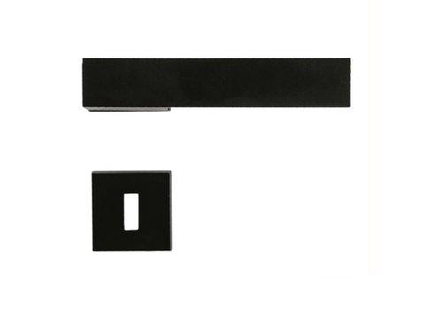 Schwarze Türgriffe X-Treme mit Schlüsselplatten