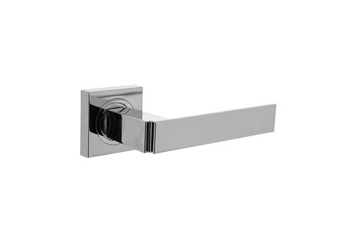 Door handle Elegante on a square rosette without key plates