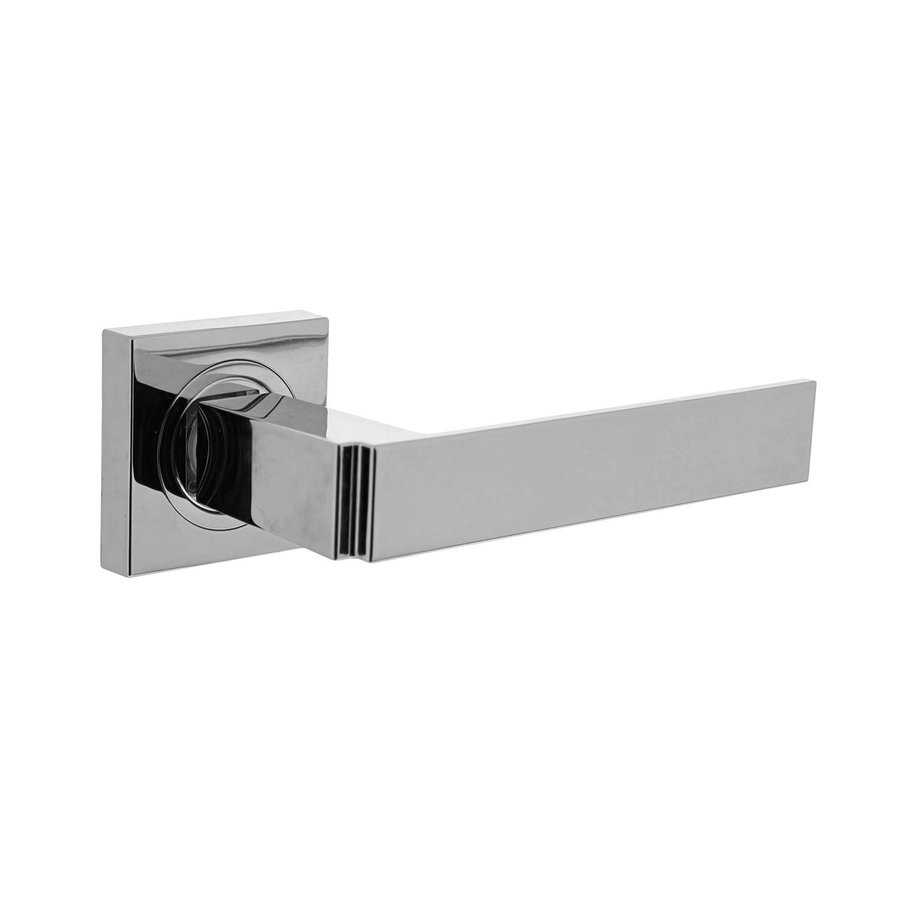 Deurkruk Elegante op vierkante rozet zonder sleutelplaatjes
