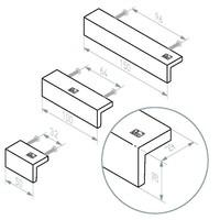 STUK MEUBELGREEP PML96/150 VEROUDERD IJZER – ZWART (VO) L150mm