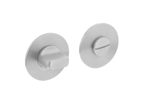 Rond WC-garnituur RVS verdekt met magnetisch rozet van 3mm