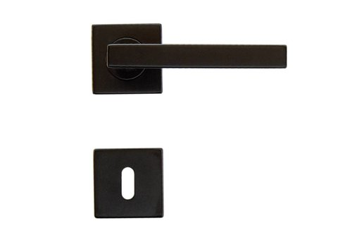 Black door handles Kubic Shape with key plates