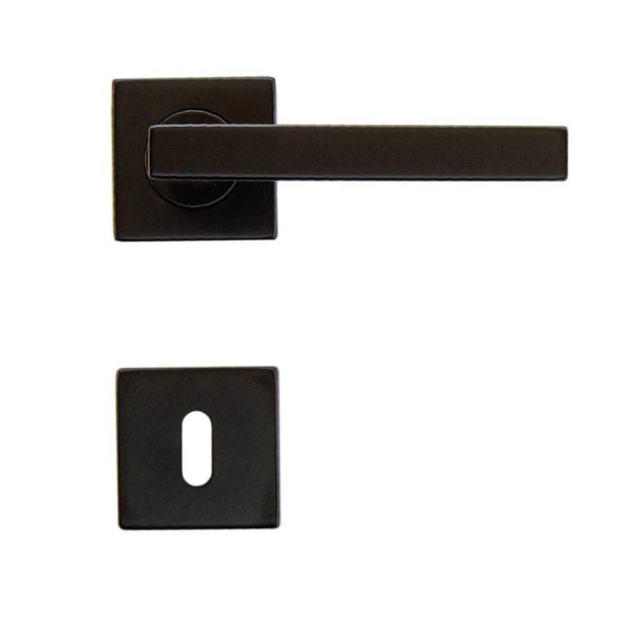 Black door handles Kubic Shape with key plates