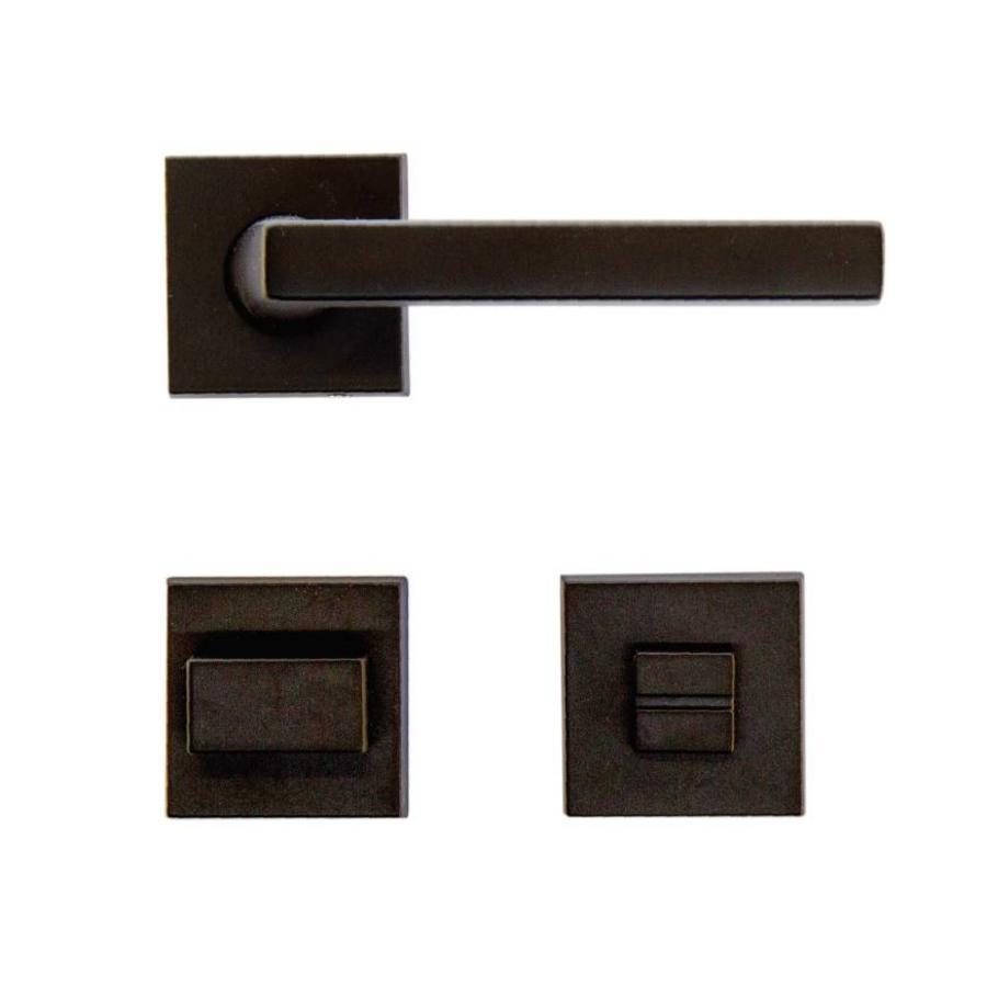 Zwarte deurklinken Luïs met WC garnituur