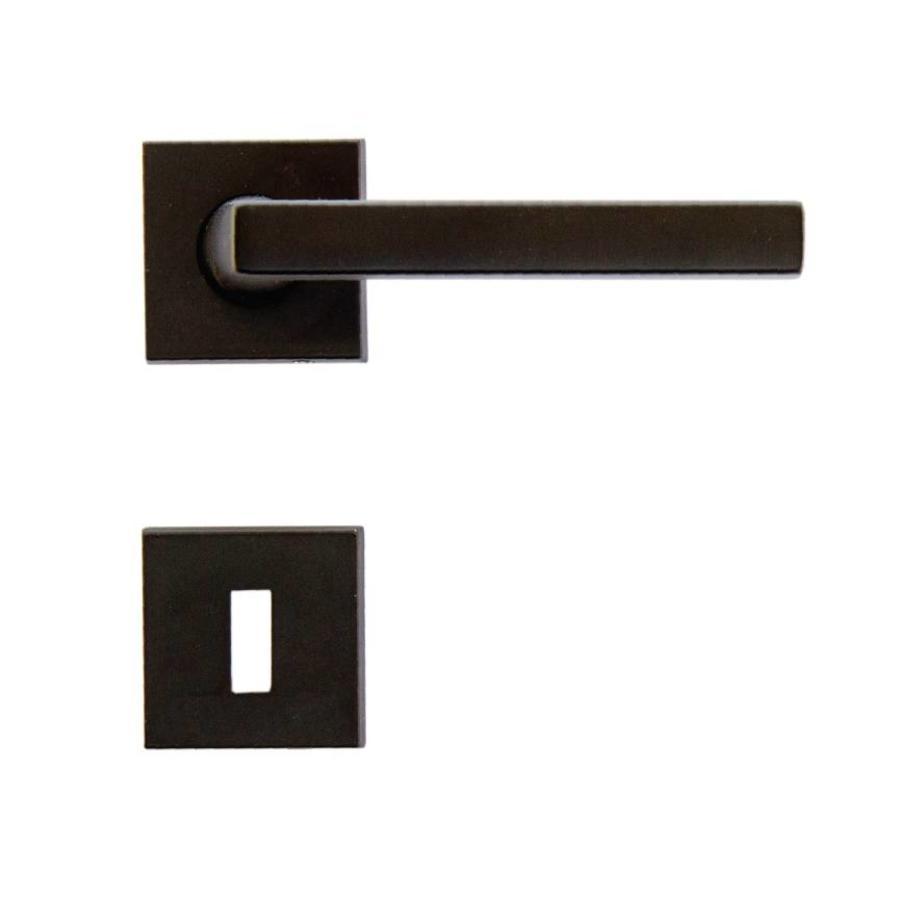 Zwarte deurklinken Luïs met sleutelplaatjes