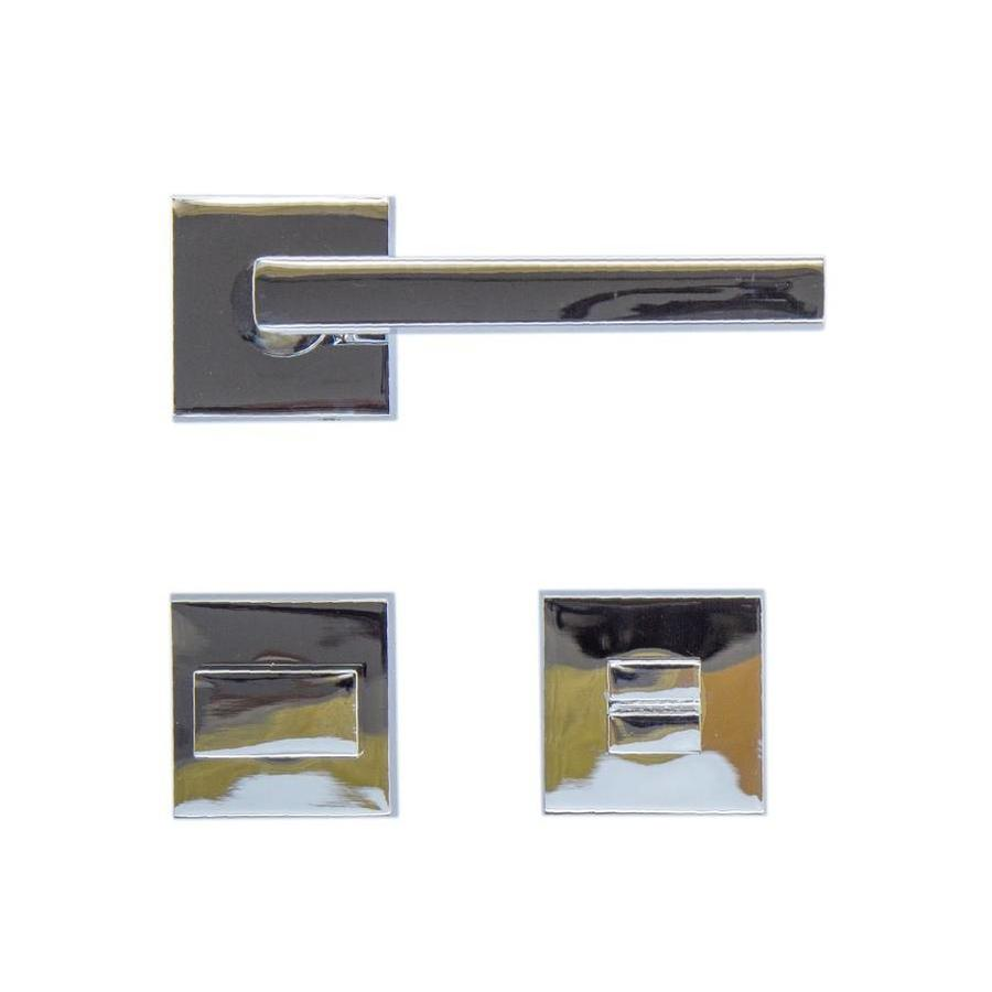Chrome deurklinken Luïs met WC garnituur
