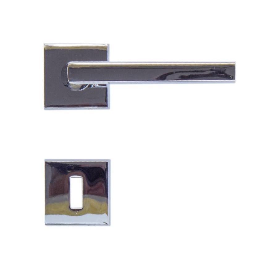 Chrome deurklinken Luïs met sleutelplaatjes