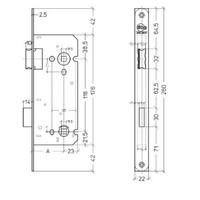 Litto WC-slot 116/55, zwart met afgeronde voorplaat van 260x22mm