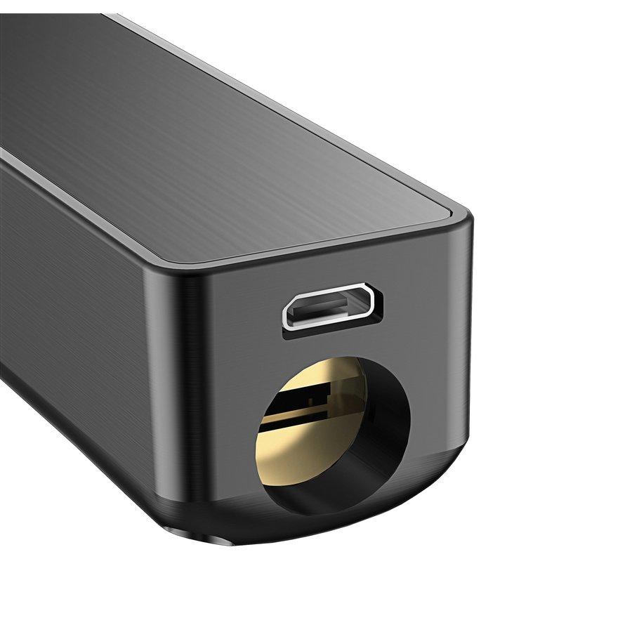 Intelligente deurklink D20 zwart op rond rozet met vingerscan