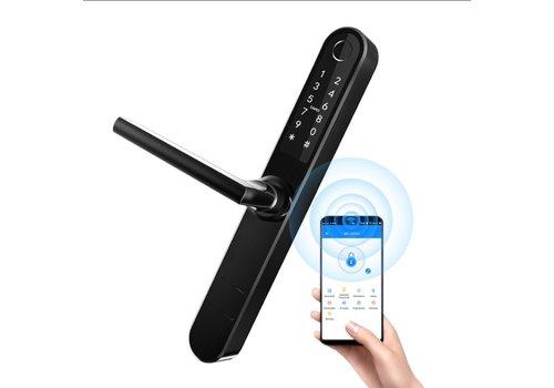 Smart door handle D33B black with finger scan