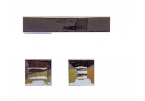 Chrome deurklinken X - Treme met WC garnituur