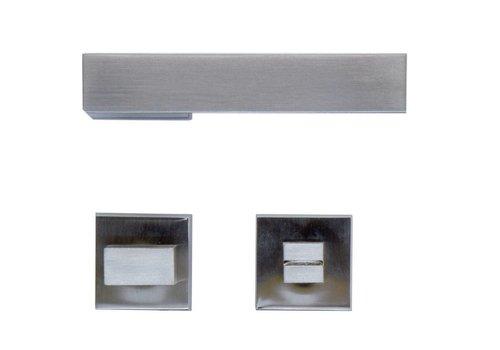 Stainless steel look door handles X-treme with WC