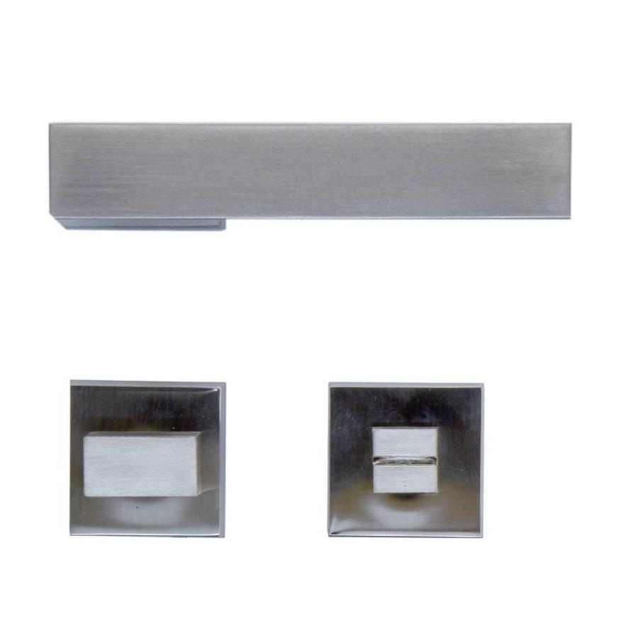 Rvs look deurklinken X-treme met WC garnituur