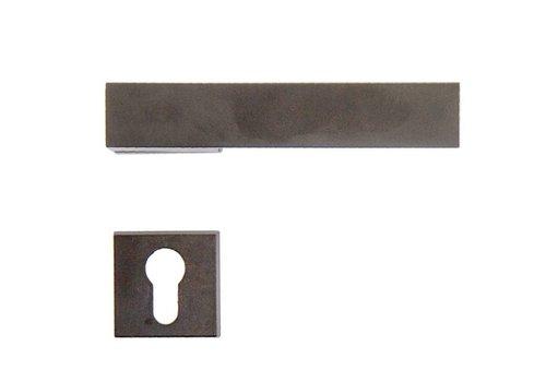 Rvs look deurklinken X-Treme met cilinderplaatjes