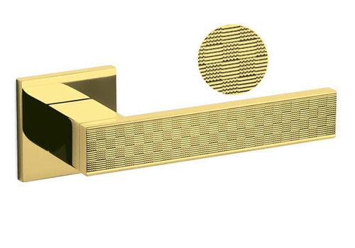 Olivari door handles Diana Damier with square sprung rosette Brass titanium PVD without BB