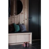 Poignées de porte noires de Buster & Punch avec poignée coupée en «croix» sans plaques de clé