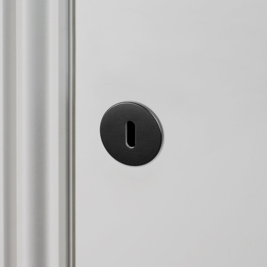 Pair of round Buster & Punch black key plates