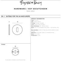 Paar ronde sleutelplaatjes Buster & Punch zwart