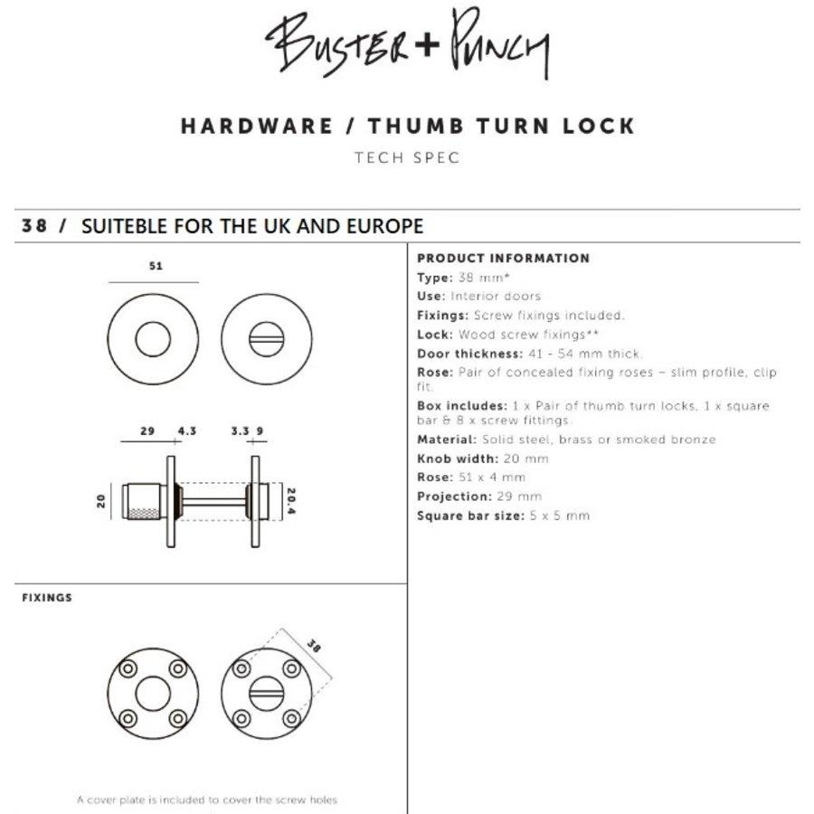 Industrieel WC garnituur Buster & Punch in smoked brons