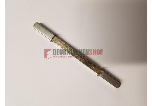 Stift voor Frankrijk: 1 stift van 7x7x120mm + 2 hulsen van 7 naar 8mm