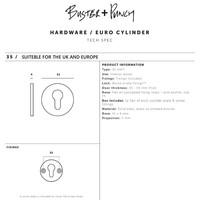 Paar runde Zylinderplatten Buster & Punch Messing