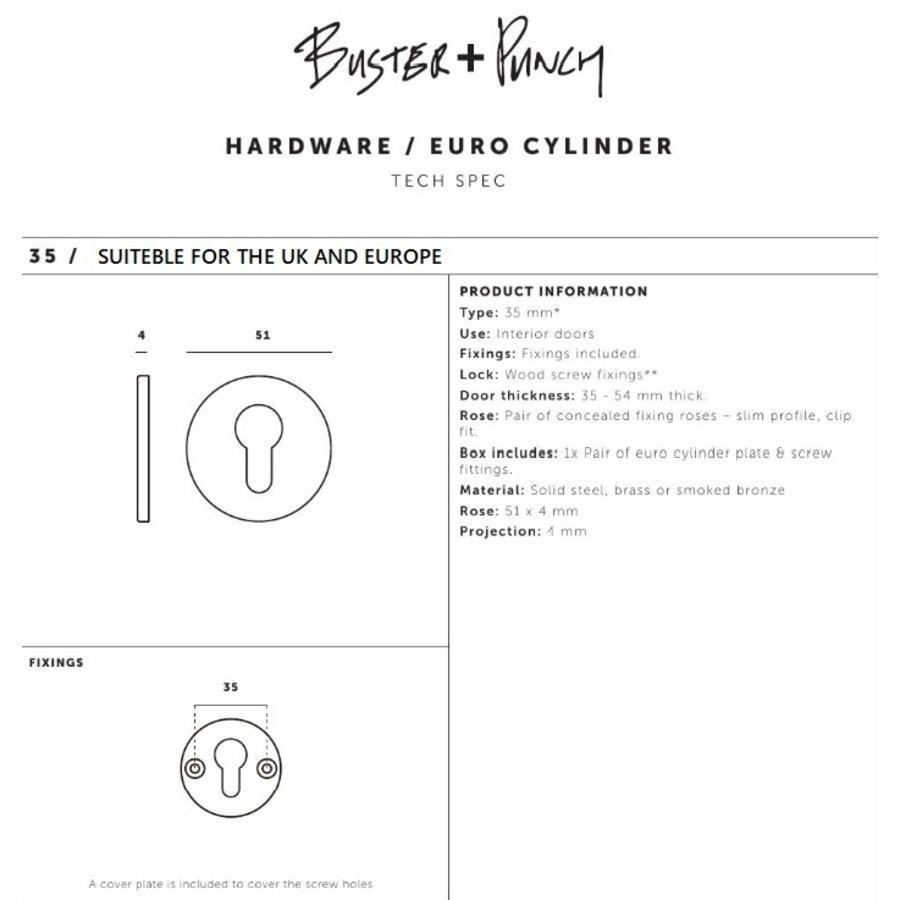 Paar runde Zylinderplatten Buster & Punch Edelstahl