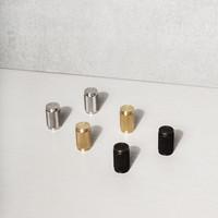 Paar meubelknoppen Buster + Punch zwart