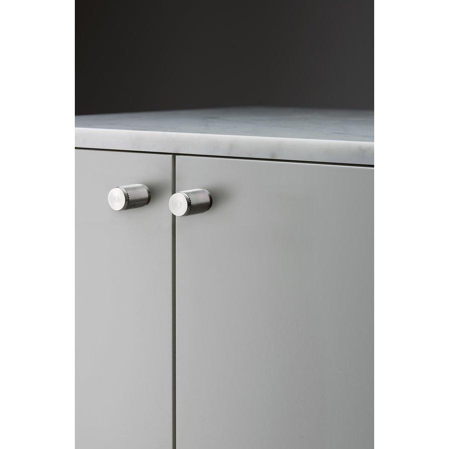 Paar Buster + Punch Möbelknöpfe aus Edelstahl