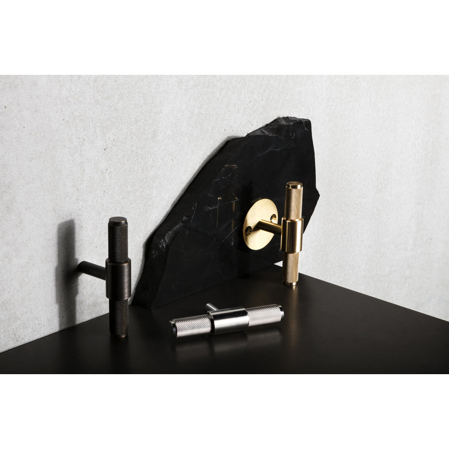 """Black furniture handle """"T-Bar"""" from Buster & Punch"""