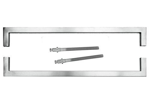 Poignée de porte Cubica 20/500 en acier inoxydable pour épaisseur de porte> 3 cm