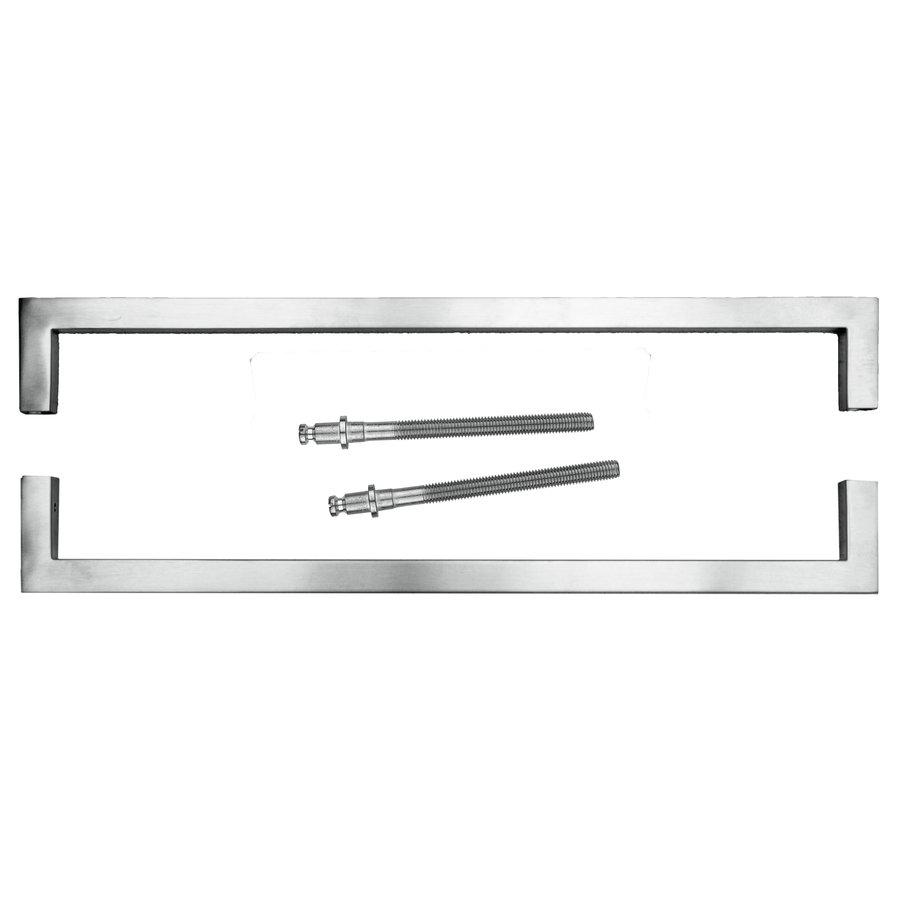 RVS deurgreep Cubica 20/500 paar voor deurdikte > 3 cm