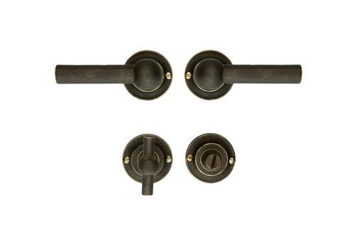 Door handle Petra L + L Old Brass + WC